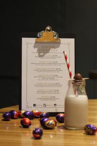 easter cocktails, cocktail leicester, easter menu, cream egg