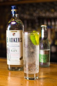 Broker's Gine and elderflower tonic